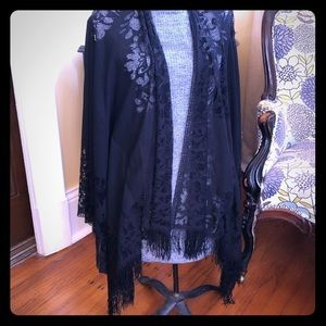 NWT Lace Cape One Size